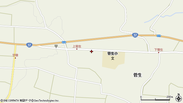 大分県竹田市菅生466周辺の地図