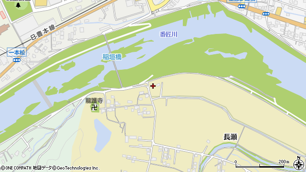 大分県佐伯市稲垣1542周辺の地図
