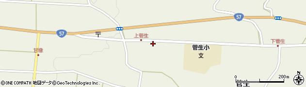 大分県竹田市菅生455周辺の地図