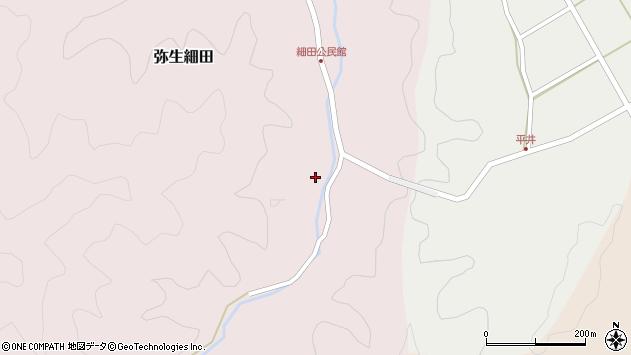 大分県佐伯市弥生大字細田1225周辺の地図
