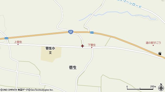 大分県竹田市菅生1109周辺の地図