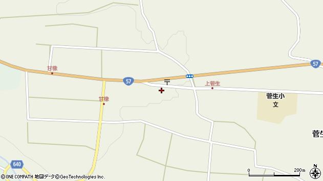 大分県竹田市菅生441周辺の地図
