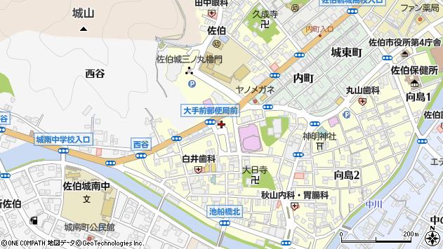 大分県佐伯市大手町周辺の地図