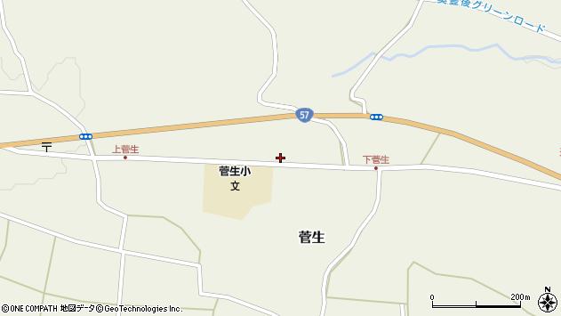 大分県竹田市菅生1113周辺の地図