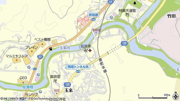 大分県竹田市玉来620周辺の地図