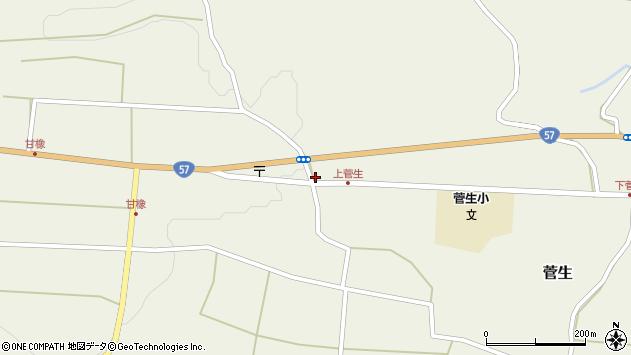 大分県竹田市菅生1173周辺の地図