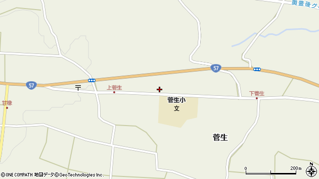 大分県竹田市菅生1030周辺の地図