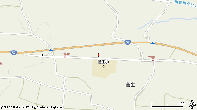 大分県竹田市菅生1120周辺の地図
