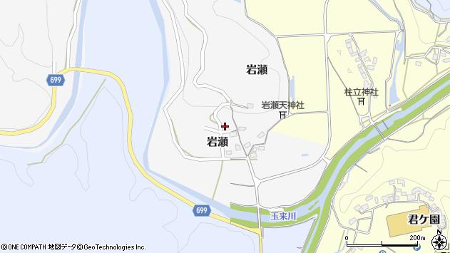 大分県竹田市岩瀬382周辺の地図