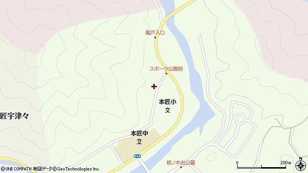 大分県佐伯市本匠大字笠掛1375周辺の地図