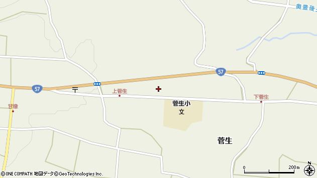 大分県竹田市菅生1122周辺の地図