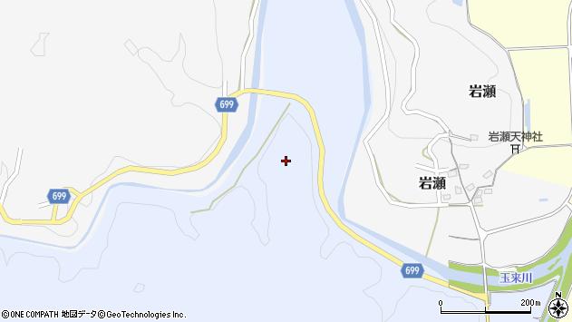 大分県竹田市穴井迫中島周辺の地図