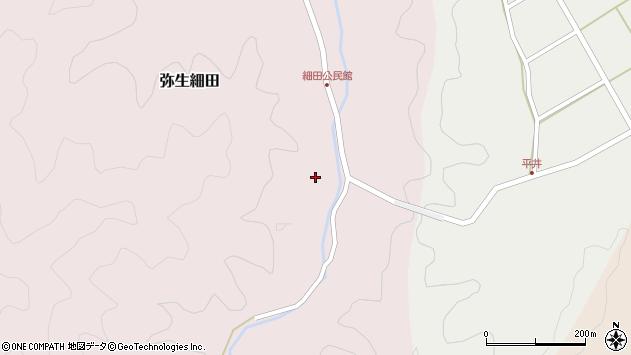 大分県佐伯市弥生大字細田1218周辺の地図