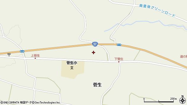 大分県竹田市菅生1111周辺の地図