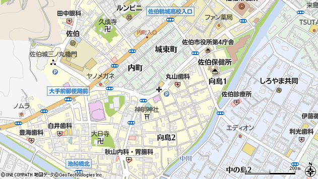 大分県佐伯市内町5周辺の地図