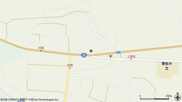 大分県竹田市菅生1182周辺の地図