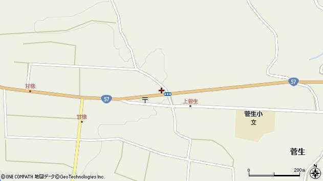 大分県竹田市菅生1175周辺の地図