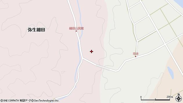 大分県佐伯市弥生大字細田1517周辺の地図