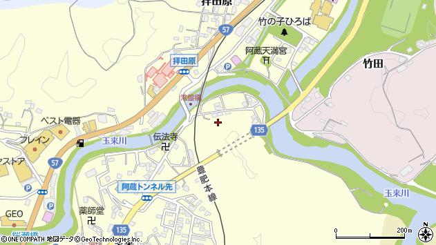 大分県竹田市玉来阿蔵周辺の地図