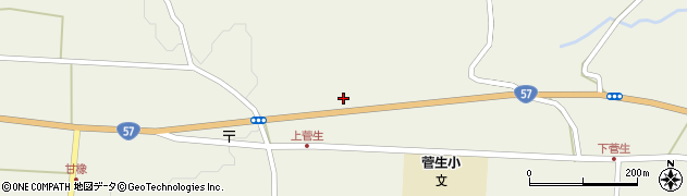大分県竹田市菅生菅生周辺の地図