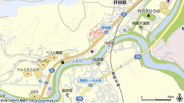 大分県竹田市拝田原462周辺の地図