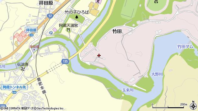 大分県竹田市竹田鬼ケ城周辺の地図