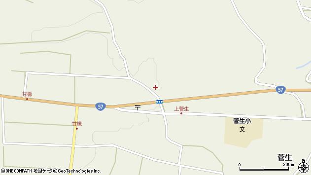 大分県竹田市菅生1169周辺の地図