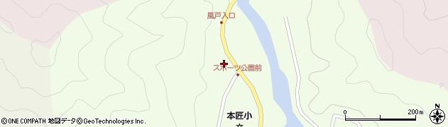 大分県佐伯市本匠大字笠掛1374周辺の地図