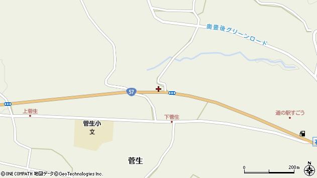 大分県竹田市菅生1073周辺の地図