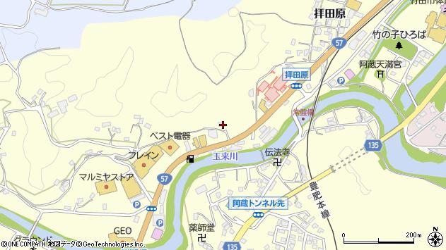 大分県竹田市拝田原489周辺の地図
