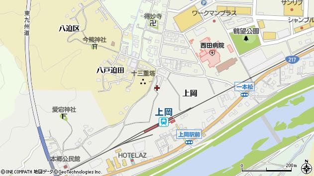 大分県佐伯市上岡1435周辺の地図