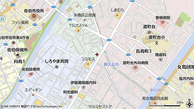 大分県佐伯市来島町23周辺の地図