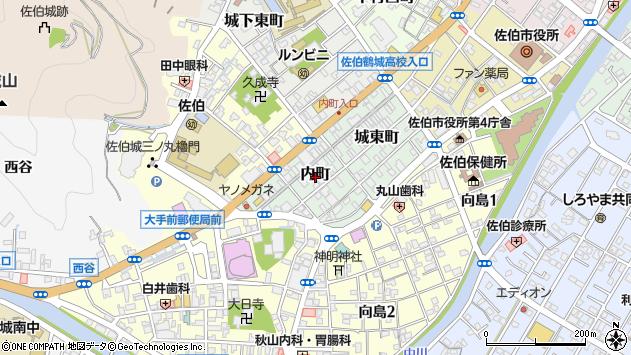 大分県佐伯市内町2周辺の地図