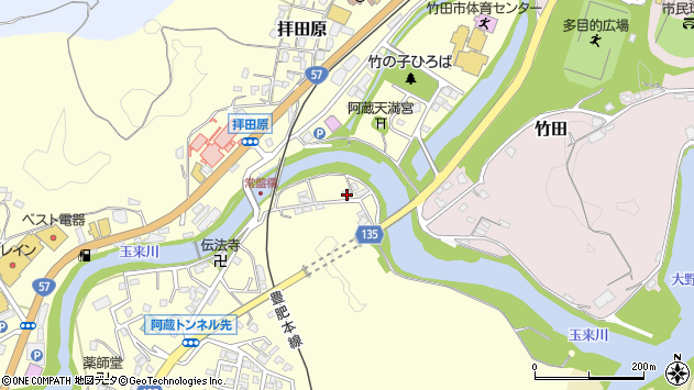 大分県竹田市玉来329周辺の地図