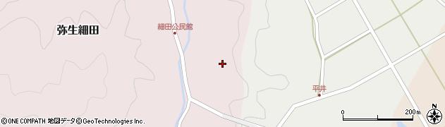 大分県佐伯市弥生大字細田1598周辺の地図