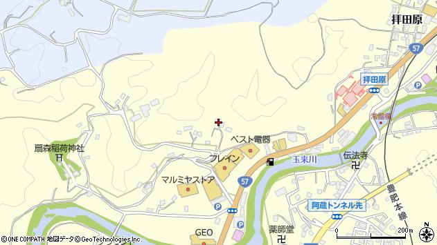 大分県竹田市拝田原645周辺の地図