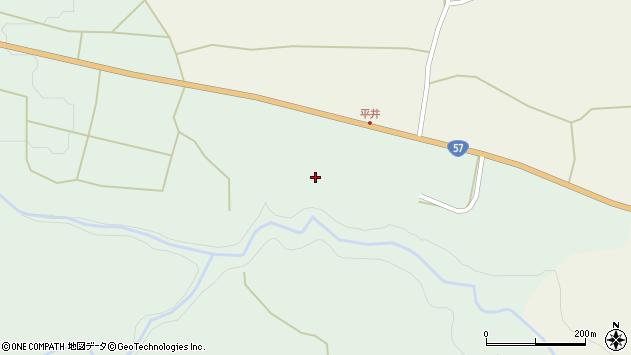 大分県竹田市小塚平井周辺の地図