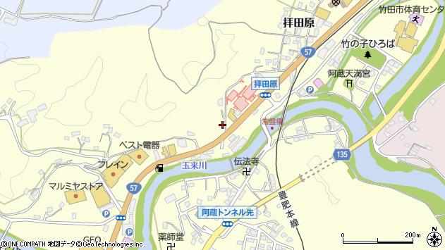 大分県竹田市拝田原475周辺の地図