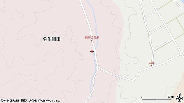 大分県佐伯市弥生大字細田1174周辺の地図
