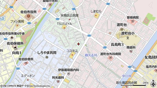 大分県佐伯市来島町24周辺の地図