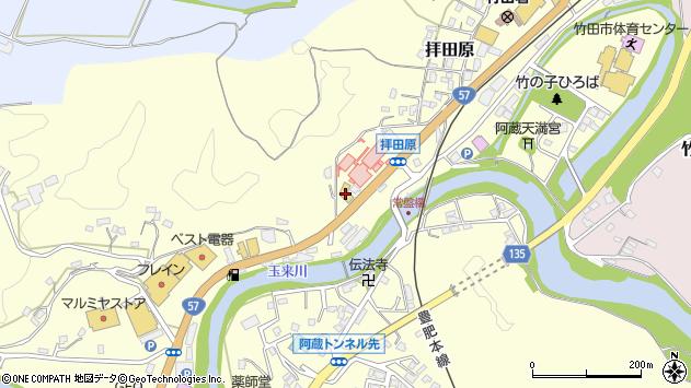 大分県竹田市拝田原459周辺の地図