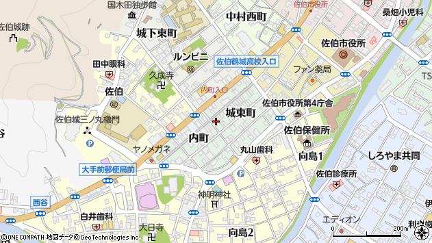 大分県佐伯市城東町2周辺の地図