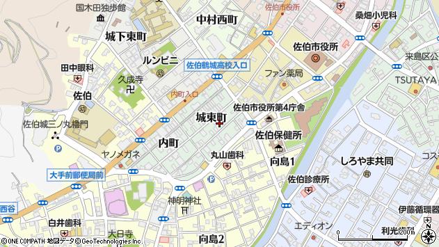 大分県佐伯市城東町3周辺の地図