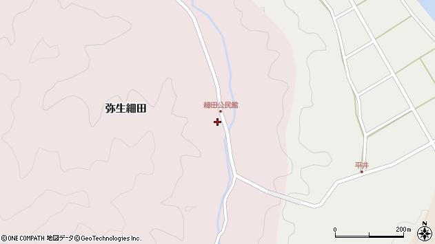 大分県佐伯市弥生大字細田1155周辺の地図