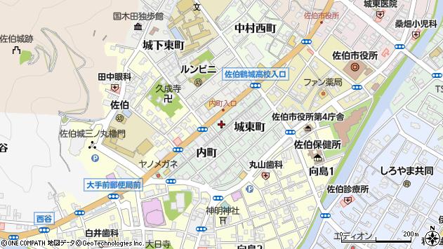 大分県佐伯市城東町1周辺の地図