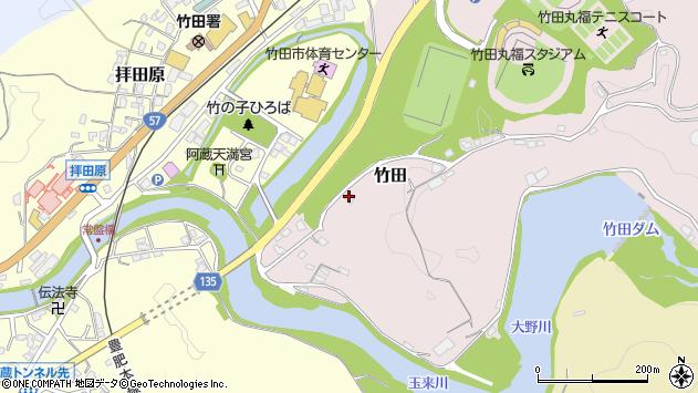 大分県竹田市拝田原13周辺の地図
