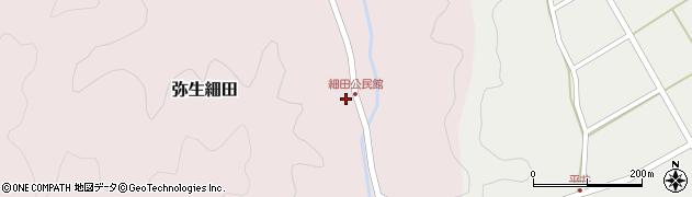 大分県佐伯市弥生大字細田1154周辺の地図
