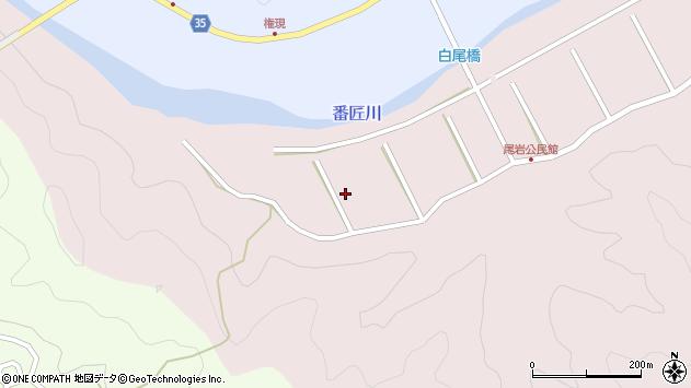 大分県佐伯市弥生大字細田尾岩周辺の地図