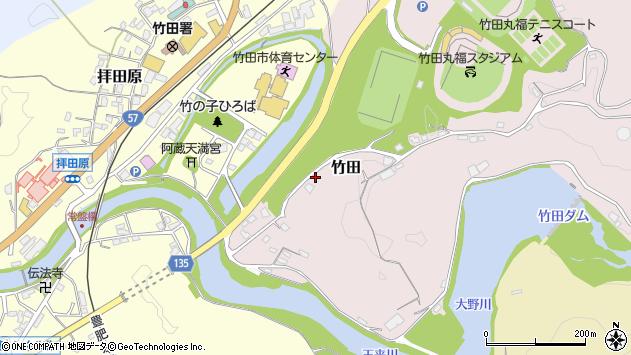 大分県竹田市拝田原12周辺の地図