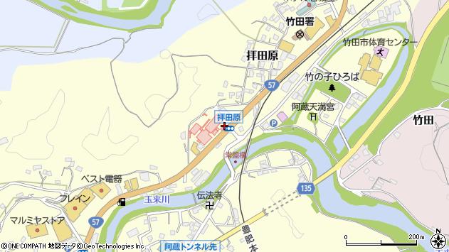 大分県竹田市拝田原449周辺の地図